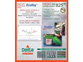 New Ecolloy™ A Drop in to SAC Lead Free Solder Alloy