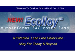 New! Ecolloy Choice Lead Free Silver Free Solder Alloy Outperforms SAC Costs Less
