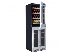 Kucht 121-Bottle Triple Zone Wine Cooler Built-in with Compressor in Stainless Steel
