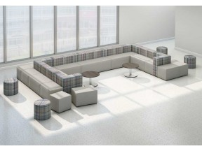 Flex Lounge, Ottomans and Tiered Seating