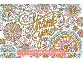 Thank You - 16 Coloring Postcards