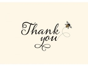 Bumblebee Boxed Thank You Notes