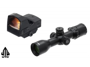 "UTG 1"" BugBuster® 3-12x32mm, Side AO, Mil-dot Scope and 2.0"" Mini Reflex Sight"